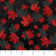 Canadian Classics Red Maple Leaves on Black