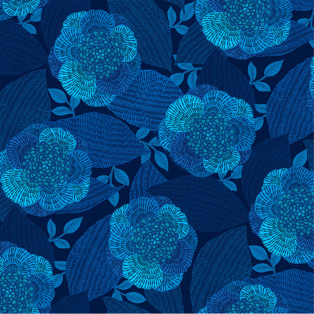 Dolce Vita Riviera Large Flower Toss Blue