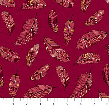 Great Plains Quilt Fabric by Nina Djuric for Northcott Red Feathers Navajo Inspired