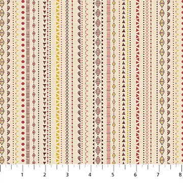 Great Plains Quilt Fabric by Nina Djuric for Northcott Multi Stripes Navajo Inspired