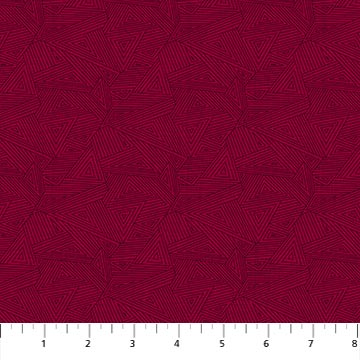Great Plains Quilt Fabric by Nina Djuric for Northcott Texture Red Burgundy Maroon Navajo Inspired