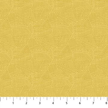 Great Plains Quilt Fabric by Nina Djuric for Northcott Texture Yellow Navajo Inspired