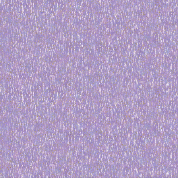 Shimmer Fantasia Nocturnal Bliss Deborah Edwards Northcott Studio Quilt Fabric Material Ripples Metallic Purple