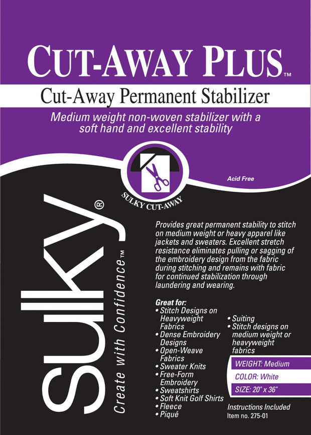 Cut-Away Plus Midweight Stabilizer White