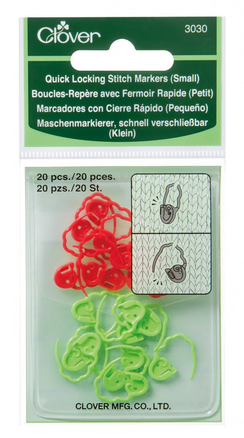 Quick Locking Stitch Markers Small Clover