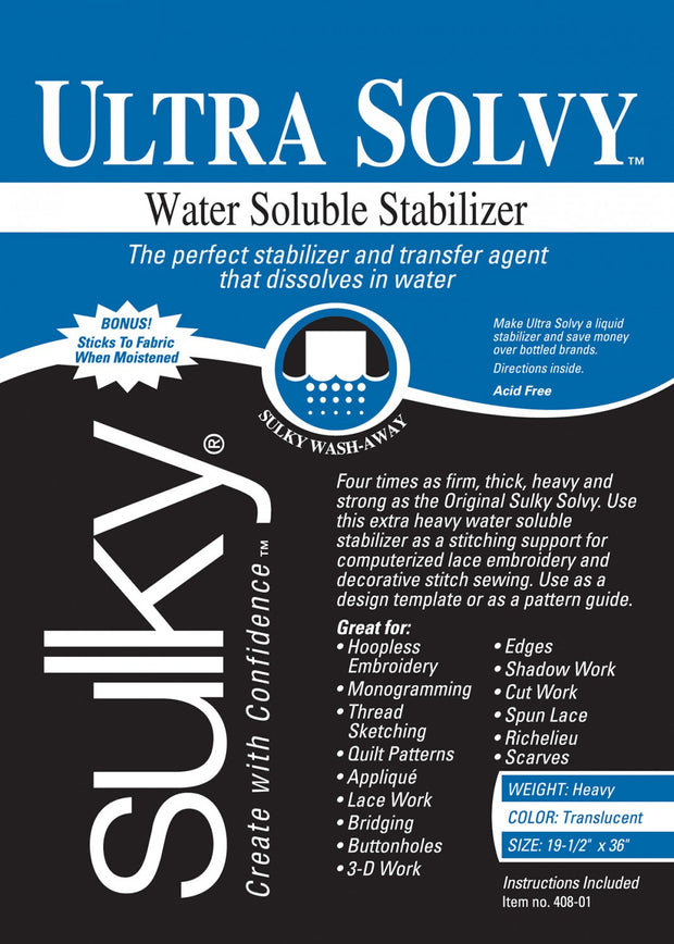 Ultra Solvy Temporary Extremely Firm Stabilizer Translucent