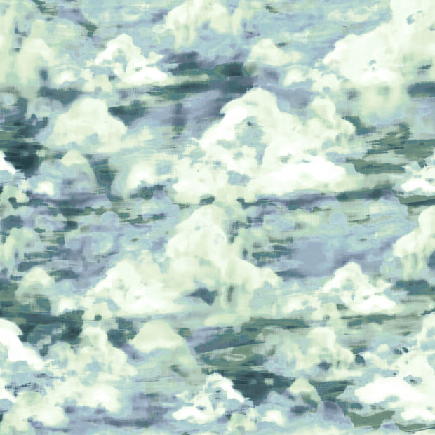Woodland Wonders Studio E Elizabeth Isles Cloudy Day White Green