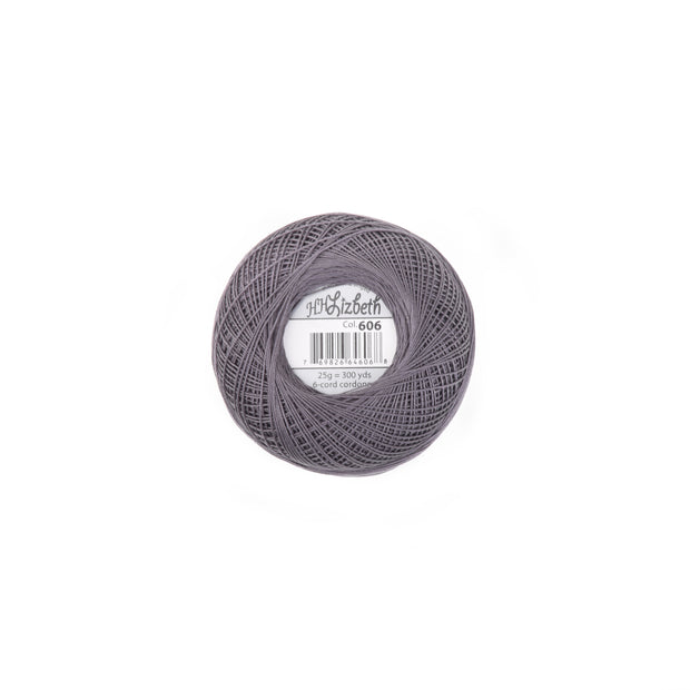 Lizbeth 100% Egyptian Cotton cordonnet thread Charcoal
