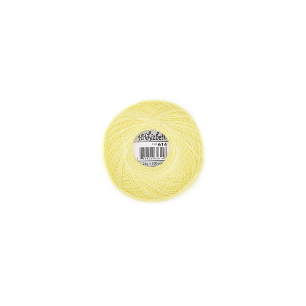 Lizbeth 100% Egyptian Cotton cordonnet thread Lemon Light