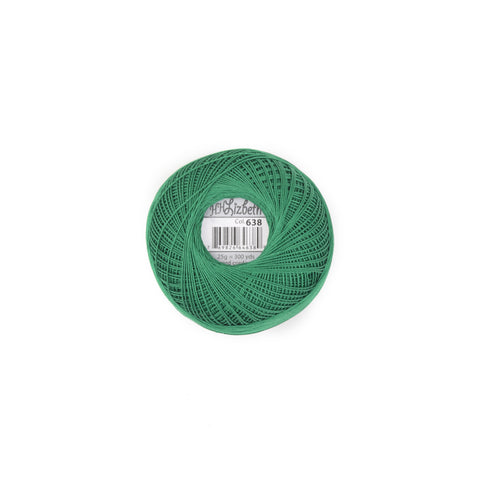 Lizbeth Cordonnet Cotton Thread Christmas Green 638