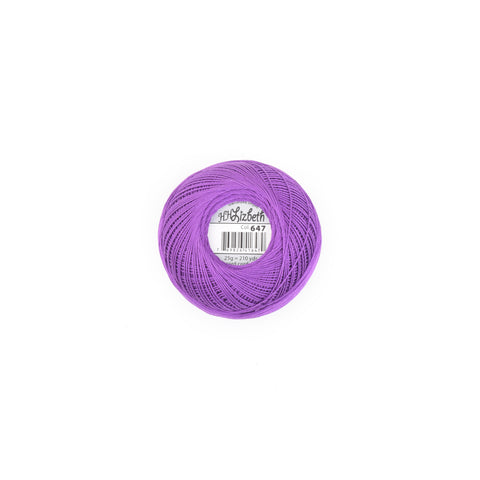 Lizbeth Cotton Thread Purple Iris Dk 647
