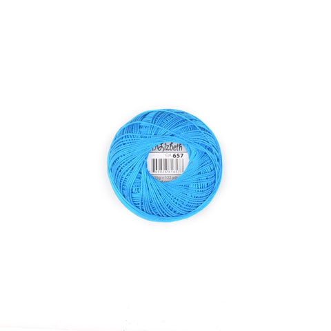 Lizbeth Cotton Thread Ocean Turquoise Dk 657