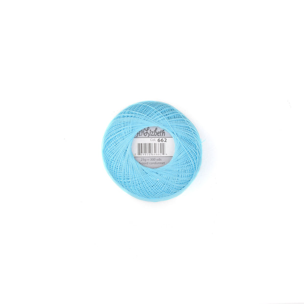 Lizbeth 100% Egyptian Cotton cordonnet thread Turquoise Light