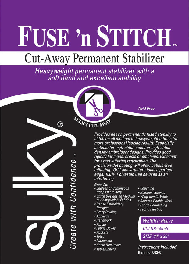 Fuse N Stitch Heavy Cut-Away Stabilizer White
