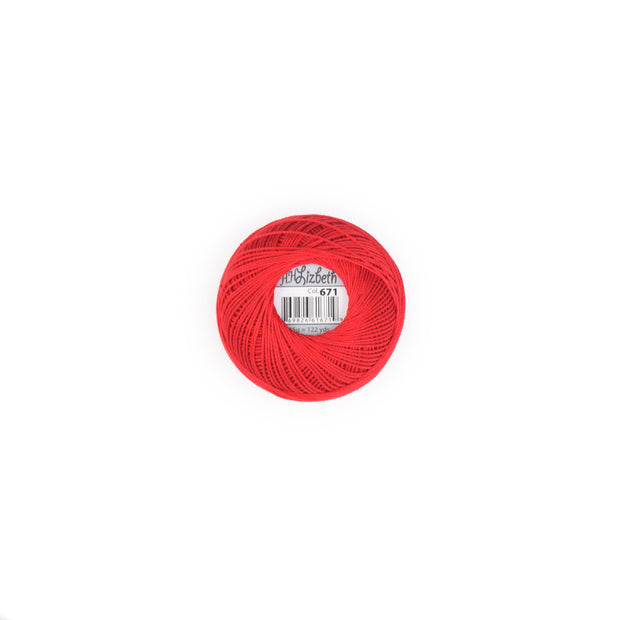 Lizbeth Mercerized Cotton Thread Christmas Red 671