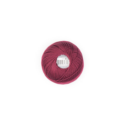 Lizbeth Cordonnet Cotton Thread Burgundy 672