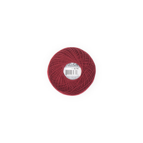 Lizbeth Cotton Thread Garnet Dk 674