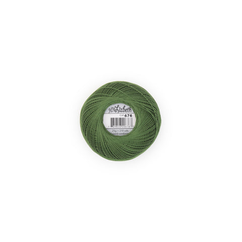 Lizbeth Cotton Thread Leaf Green Dk 676
