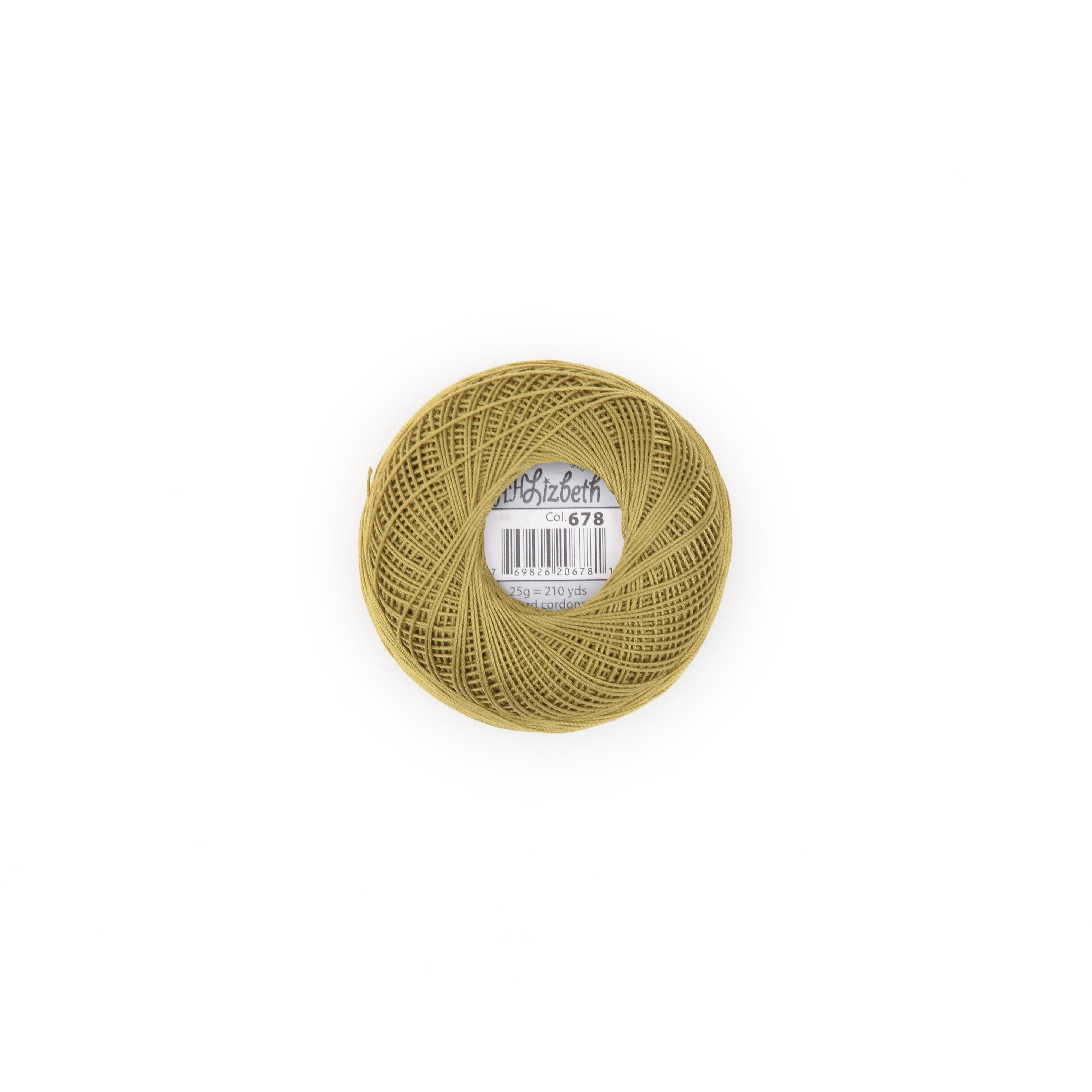 Lizbeth Cotton Thread Olive Dk 678