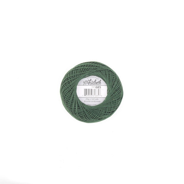 Lizbeth 100% Egyptian Cotton cordonnet thread Evergreen Dark