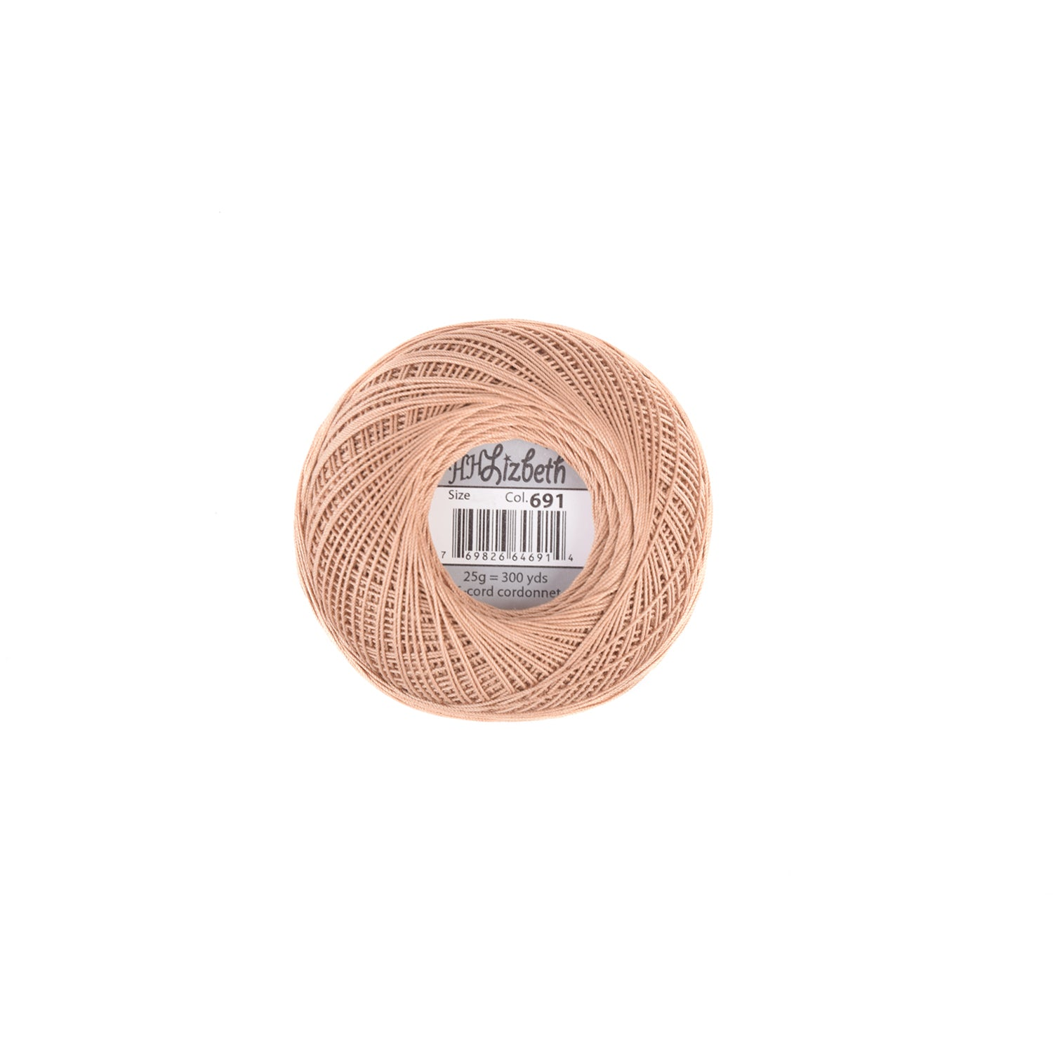 Lizbeth Cotton Thread Mocha Brown Med 691