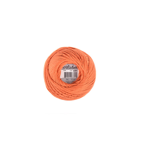 Lizbeth Cotton Thread Harvest Orange Med 694