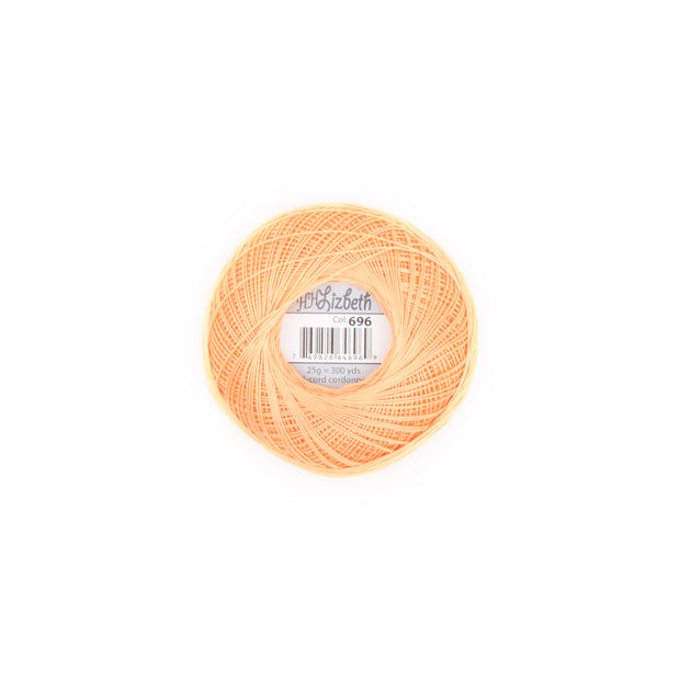 Lizbeth Cordonnet Cotton Thread Autumn Orange 696