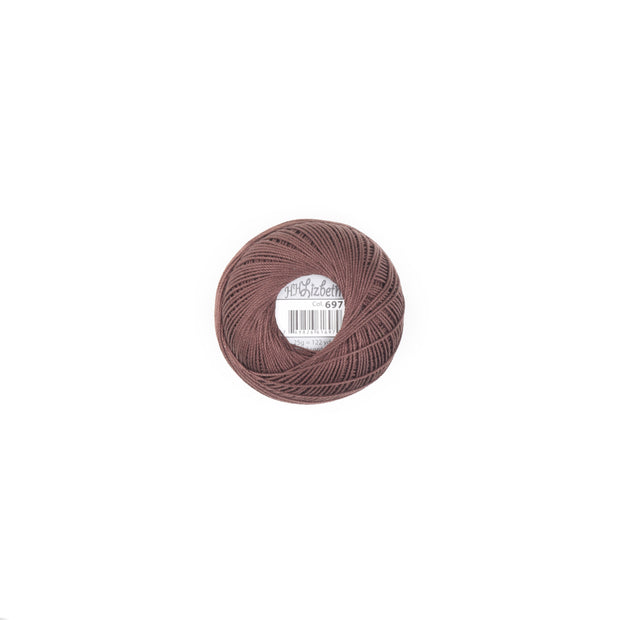 Lizbeth Mercerized Cotton Thread Size 10 Fudge Dark
