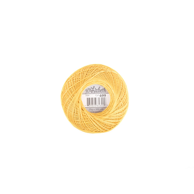 Lizbeth 100% Egyptian Cotton cordonnet thread Harvest Gold
