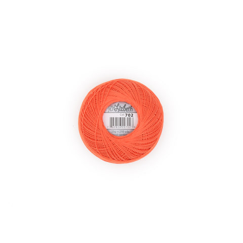 Lizbeth Cordonnet Cotton Thread Orange Medium 702