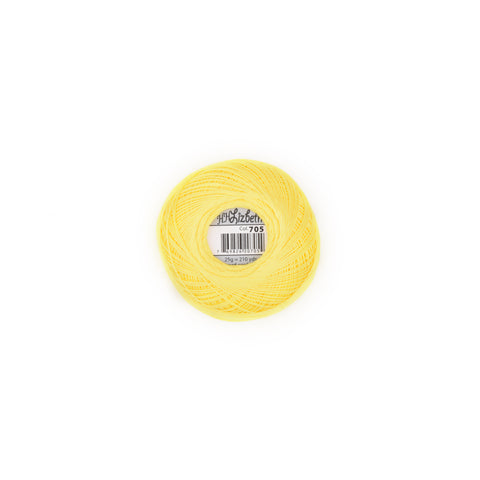 Lizbeth Cotton Thread Bright Yellow 705