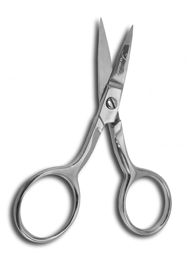 4in. Left-Hand Large Ring Fine Point Curved Embroidery Scissors