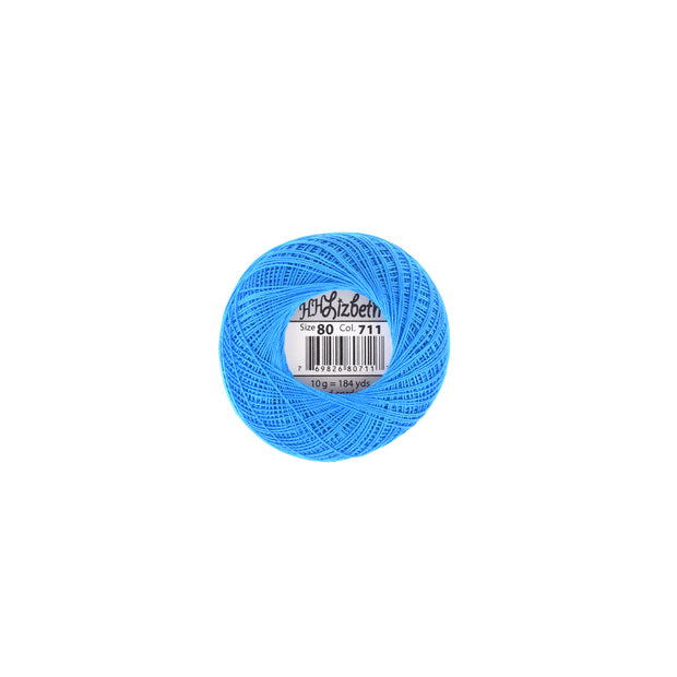 Lizbeth Cordonnet Cotton Thread Bright Blue Dark 711