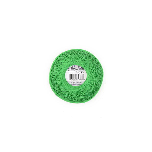 Lizbeth 100% Egyptian Cotton cordonnet thread Kelly Green