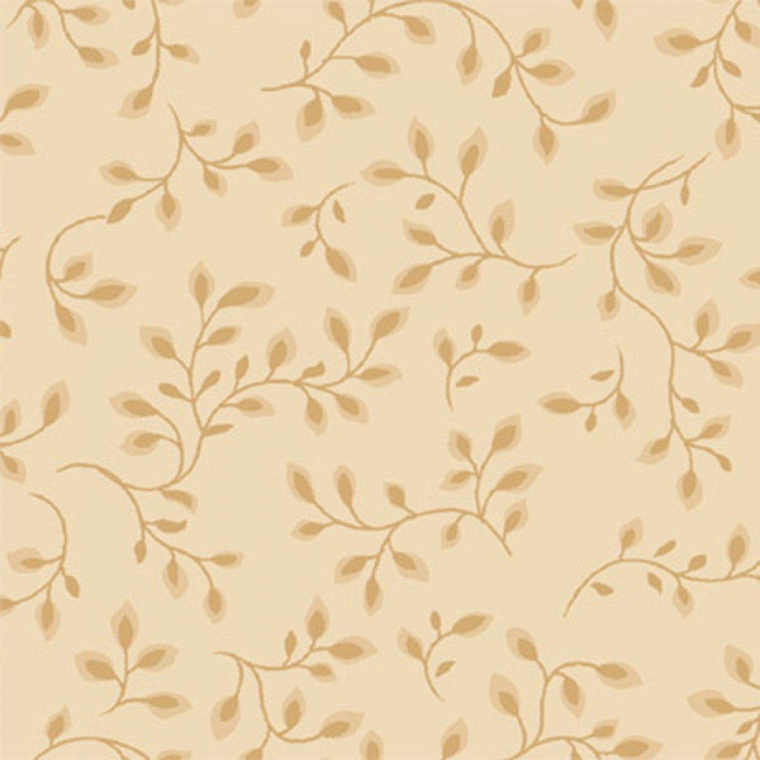 108 Inch Wide Backing Tan/Beige Vine Fabric