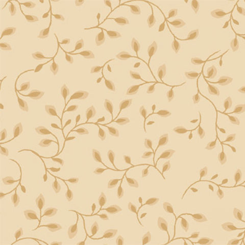 108 Inch Wide Backing Tan/Beige Vine