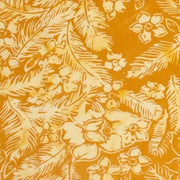 Banyan Batiks Feathers Mandarin Teal Flowers and Feathers Toss Orange