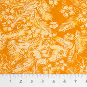 Feathers Mandarin-Teal Floral Toss Orange