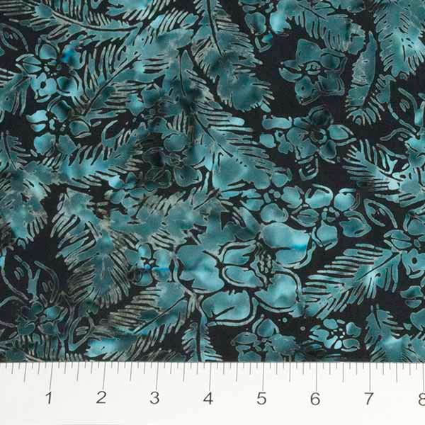 Feathers Mandarin Teal Feathers n Flowers Navy