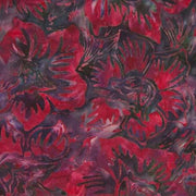 Mary Red Flowers Charcoal