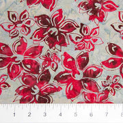 Mary Red Flowers Off Grey