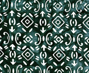 Banyan Batiks Baralla Midnight Gold Quilt Fabric Symbols Green White