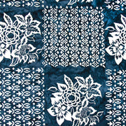 Banyan Batiks Baralla Midnight Gold Quilt Fabric Flowers Navy White