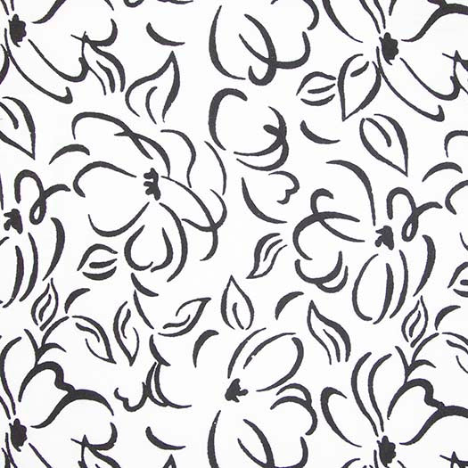 Banyan Batiks Classic White Black Quilt Sewing Fabric Floral