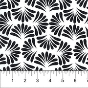 Banyan Classics Batiks Shells Black on White