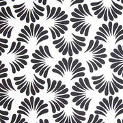 Banyan Batiks Classic White Black Quilt Sewing Fabric Leaves