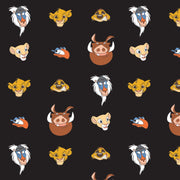 Disney's The Lion King Simba Pumbaa Timon Nala Zazu Rafiki Orange Black White Brown Blue Yellow