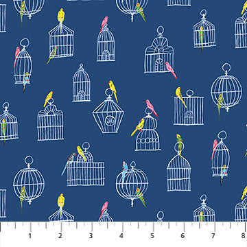 Promenade Bird Cages Navy