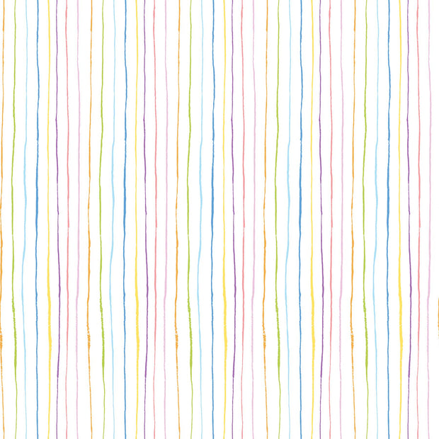 Promenade Stripes Multi White