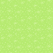 FIGO Quilting Fabrics Lucky Charms Lime Green Acorns